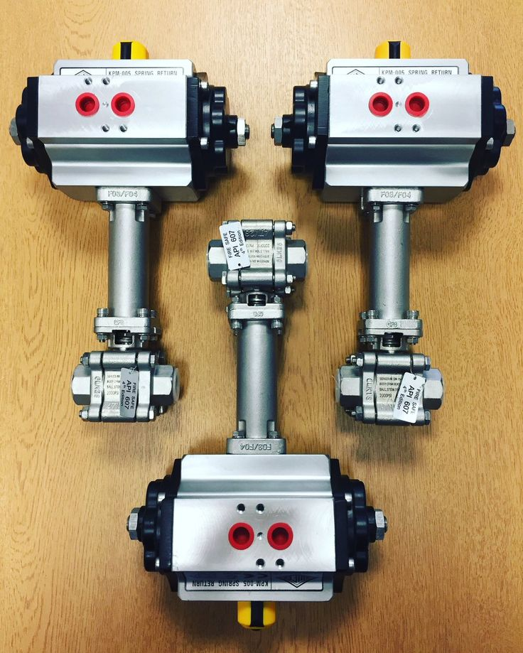 Pneumatic Actuated Ball Valves for Steam with Quifer KPM05 Actuators as per customers request. http://www.valvesonline.co.uk/pneumatic-actuated-screwed-ball-valve-for-steam.html #actuated #actuatedballvalve #steam #valves #ballvalve #ballvalves #pneumatic #quifer #actuator #pneumaticactuator #tsm #engineering #actuatedvalves