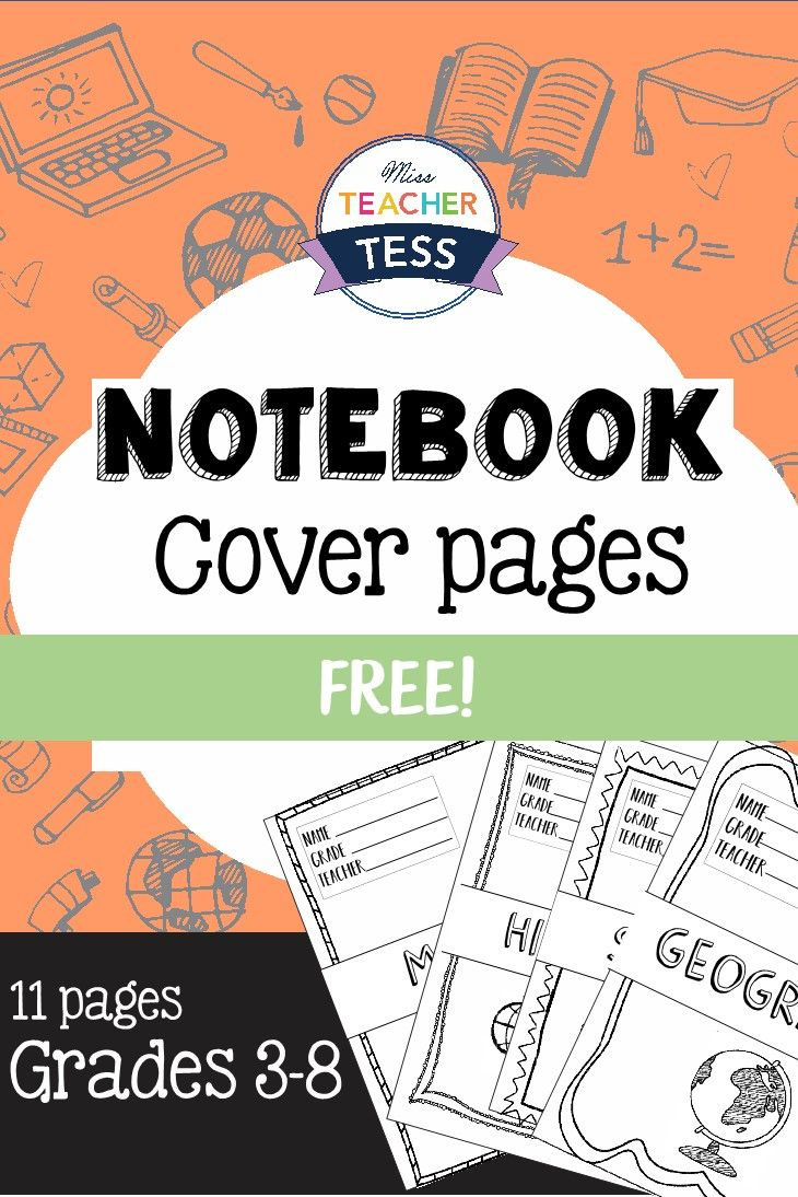 Notebooks and Printable Covers (With images) | Diy ... |Human Studies Science Notebook Cover