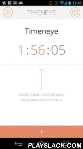Timeneye Time Tracking  Android App - playslack.com , Timeneye Time Tracking is a simple and intelligent time tracking and reporting app. Record the time you spend on different projects using timers and simply edit them to add a task or description. Using the web app you can then generate reports and analyze your team's efforts.Timeneye time tracking app features:* Overall view of your daily time entries* Easily browse by timer and timers' tasks* Customizable alerts to notify that you have…