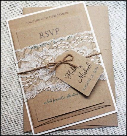 Print Yourself Wedding Invitation Kits Homemade