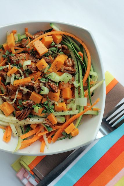 Carrots, Courgettes and Red Leicester Cheese Salad
