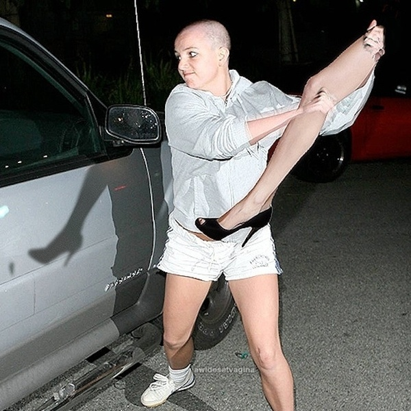 Britney Spears and Angelina Jolie's right leg hit the town.