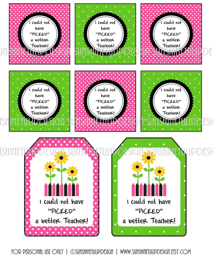 Printable Teacher Appreciation Gift Tags I Could Not Have