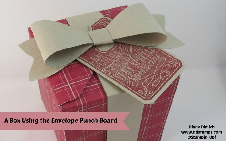 Box with the Stampin' Up! Envelope Punch Board maker