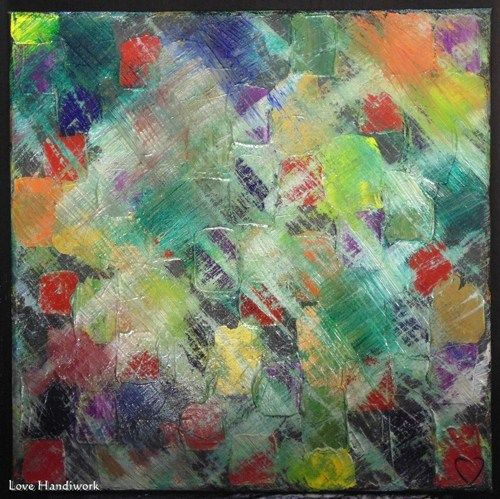Multi Colour Abstract Square Painting 12 Quot X12 Quot Acrylics