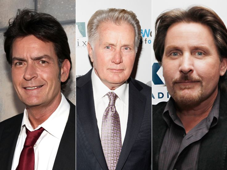 actor Martin Sheen's two sons Charlie Sheen and Emilio Estevez - 24 Celebrities You Didn't Know Were Related (PHOTOS)