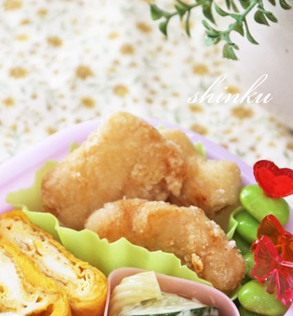 冷めてもしっとり*鶏むね肉の揚げない唐揚げ【下味冷凍お弁当おかず】   冬のひいらぎ 秋のかえで*shinkuのレシピ&ライフ