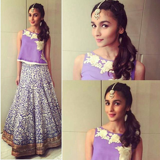 Alia Bhatt in Manish Malhotra for Masaba Gupta's Sangeet. Outfit ~ #ManishMalhotra