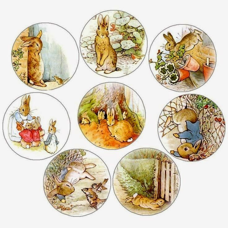papers.quenalbertini: Vintage Peter Rabbit Cupcake Toppers