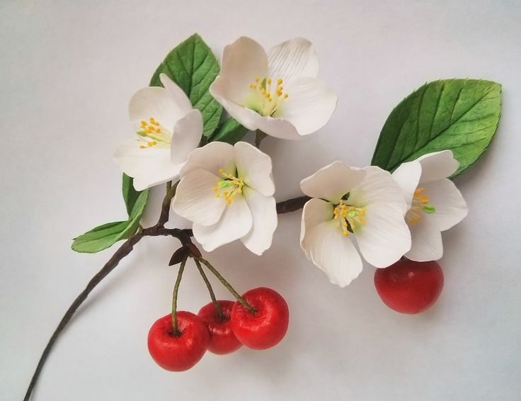 мастер-класс ягода вишни из зефирного фоамирана vk.com/sdelano_dushoy