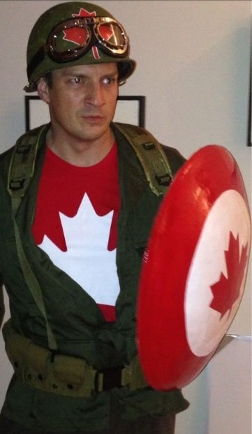 Nathan Fillion as Captain Canada. YES.