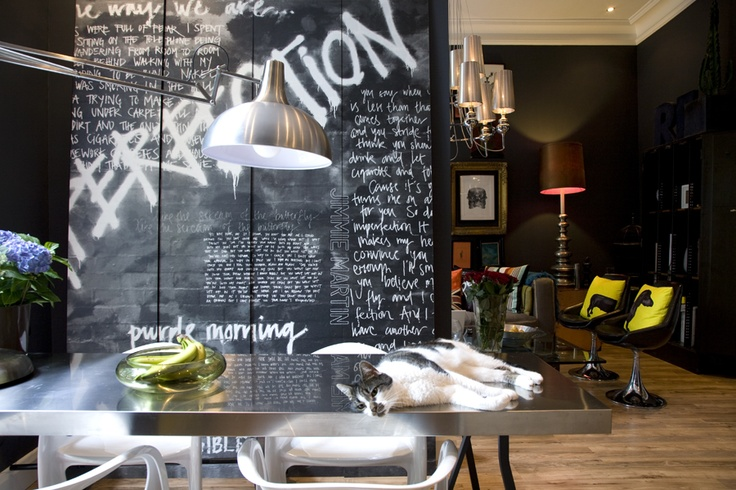 //Chalkboards Everywh, Interiors Nice, Cool Wall, Cat Naps, Jimmy Karlsson, Graffiti Wall To To Indoor, Jimmy Martin, Architecture Luv, Luxury Backdrops