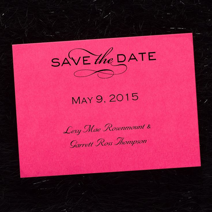 cruise wedding save the date announcement%0A Pink Wedding Ideas  Tailored Horizontal  Save the Date Card  Fuchsia    Occasions In