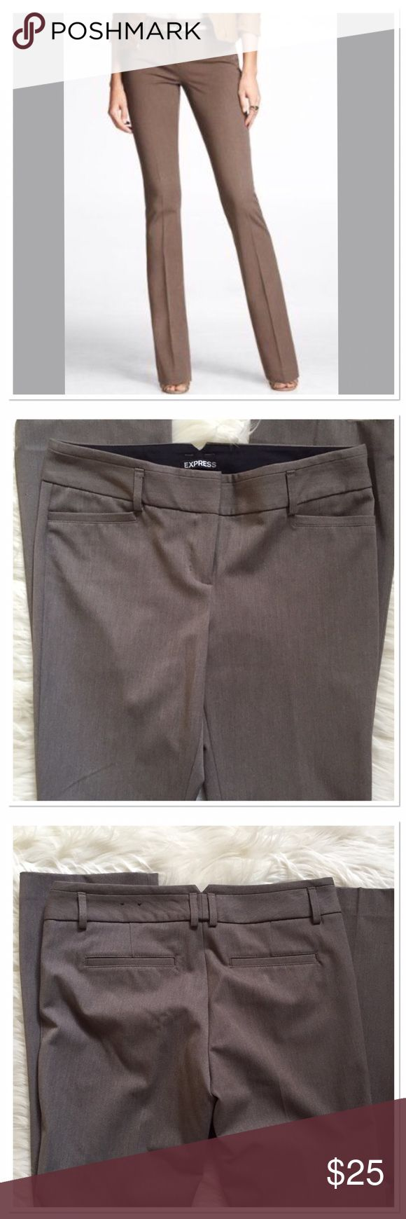 Express Columnist slacks NWT Dark Taupe color boot cut slacks.  Inseam measures 32.5 inches. New with tags . Express Pants Trousers