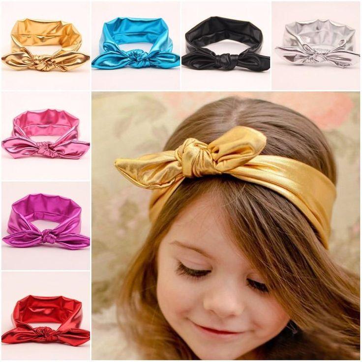 Handmade Hair Accessories - Metallic Knot Elastic Headband (CLICK FOR MORE OPTIONS)