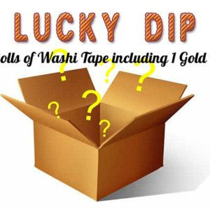 Lucky Dip Washi Tape / 5 Different Rolls of Tape including one Foil Tape /Sale Cheap Washi Tape