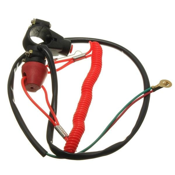 7/8inch Motorcycle ATV Quad Engine Emergency Kill Switch Tether. Motorcycle Universal Engine Emergency Kill Switch Tether Closed Atv Quad    description:     Normally Opened Circuit And Two Control Methods, Pressing Button Or Taking Off The Tether Can Make The Circuit Closed.  cutout Method Is Short Circuit.  universal Tether Kill Switch, Can Be Used On Most Of Quad,mini Moto Quadard Motorcycles, Scooters Etc.  fitment:  this New Universal 50cc 70cc 110cc 125cc 150cc Atv Motorcycle 4 Wheeler…