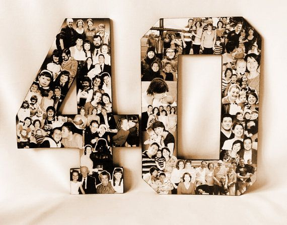 Milestone Birthday College Alphabet Collage by picketfencecrafts