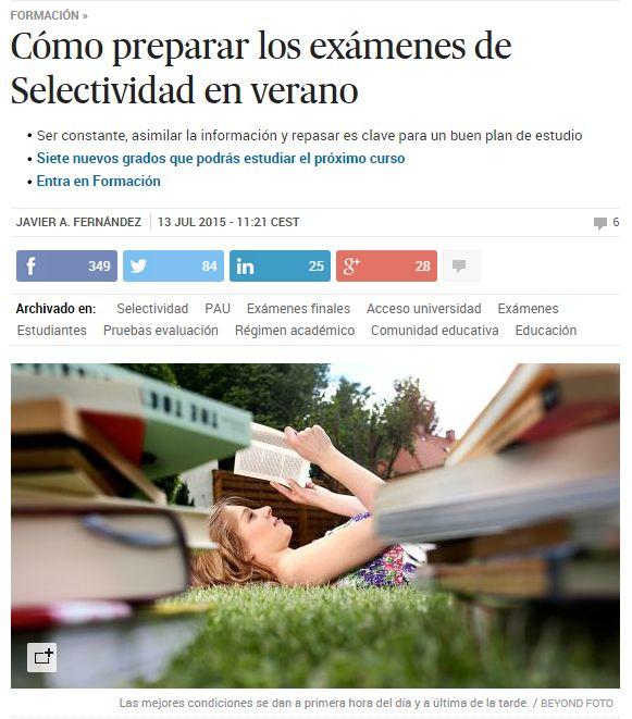 Cómo preparar los exámenes de Selectividad en verano / @el_pais | #readytostudy