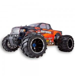 Are you looking for a cheap 1/5 Scale Gas RC Truck? These big, bad trucks run on normal unleaded gas that you add 2 stroke oil to so they are cheap to operate. Mixing instructions come with your truck. You can usually run for 30 to 40 minutes on a tank of gas.