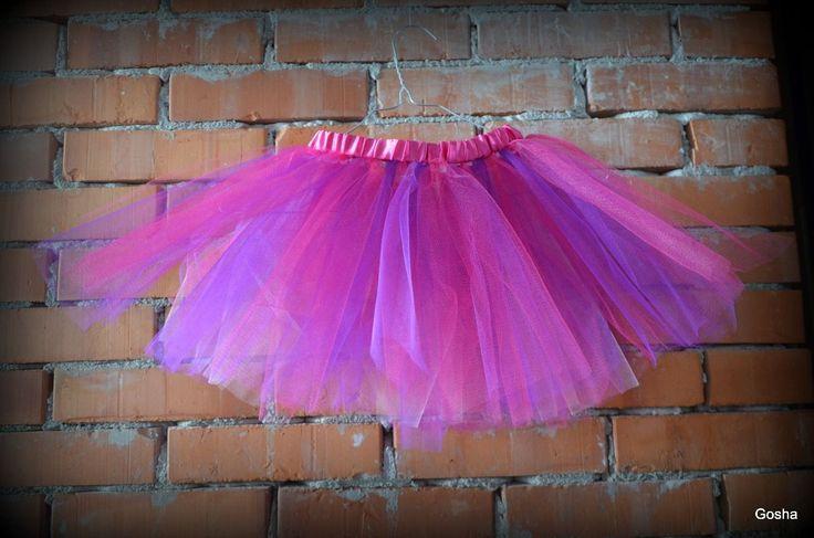 różowo-fioletowe tutu