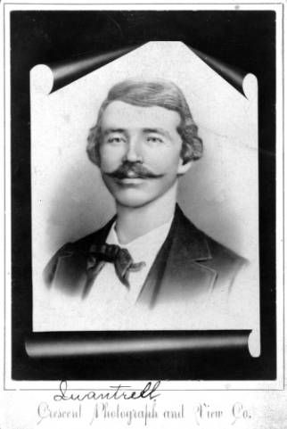 Studio portrait of William Quantrill circa 1860-1865. Quantrill ran a group of Confederate Guerrillas known as Quantrill's Raiders, whose members included Frank and Jesse James. Quantrill was killed by Union soldiers in 1865. #civilwar
