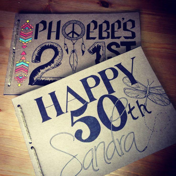 Birthday Books #madebyhand