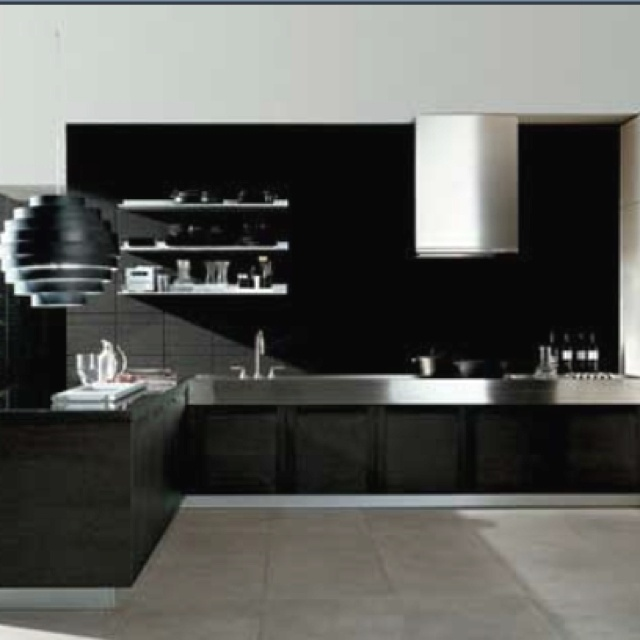 Black And Silver Kitchen