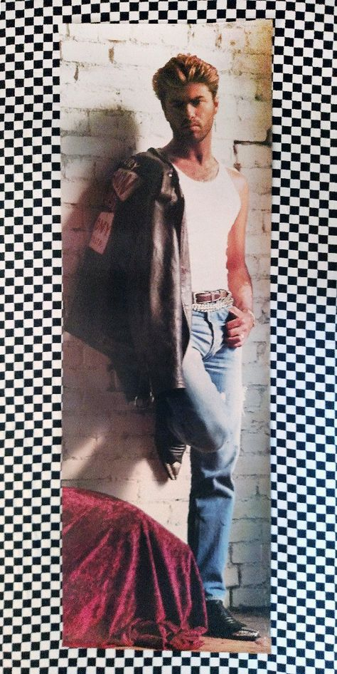 Rad & RARE George Michael Poster! 1988 - Faith Album - VG
