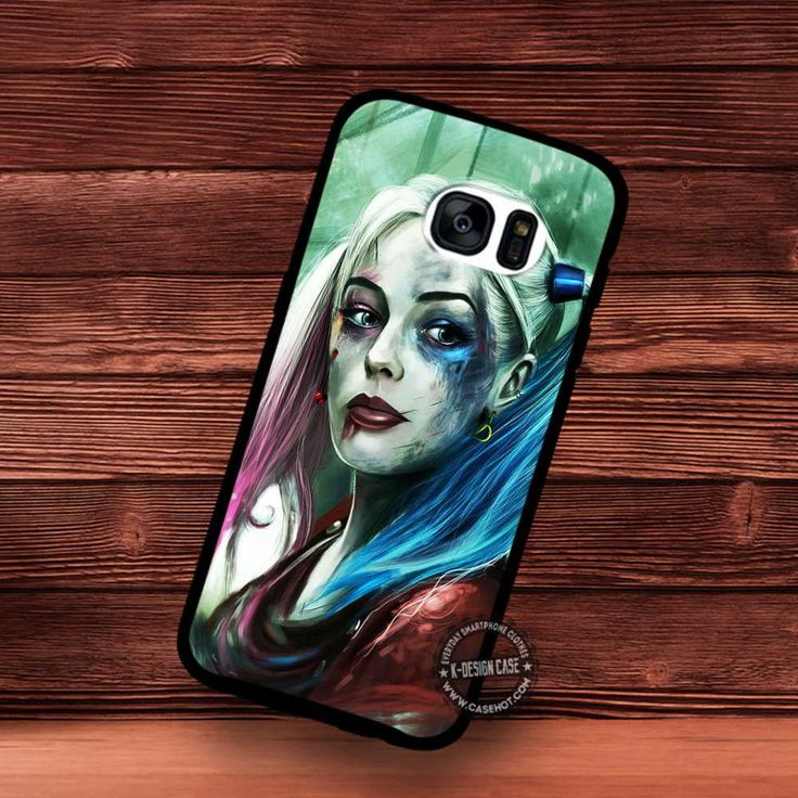 Painting Margot Robby Harley Quinn Suicide Squad - Samsung Galaxy S7 S6 S5 Note 7 Cases & Covers