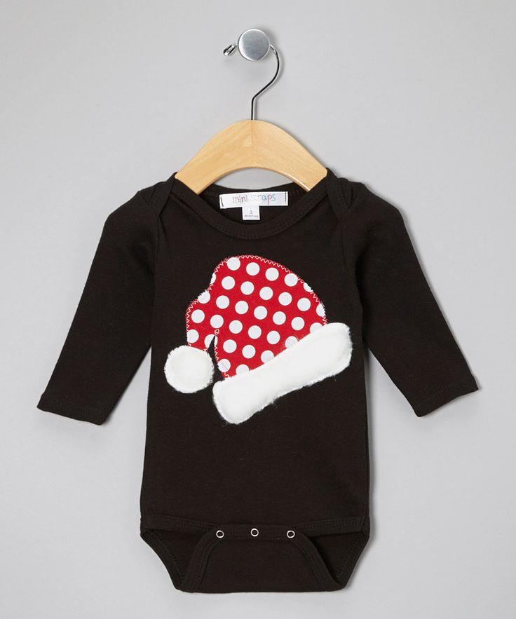 Take a look at this Black Santa Hat Bodysuit - Infant on zulily today!