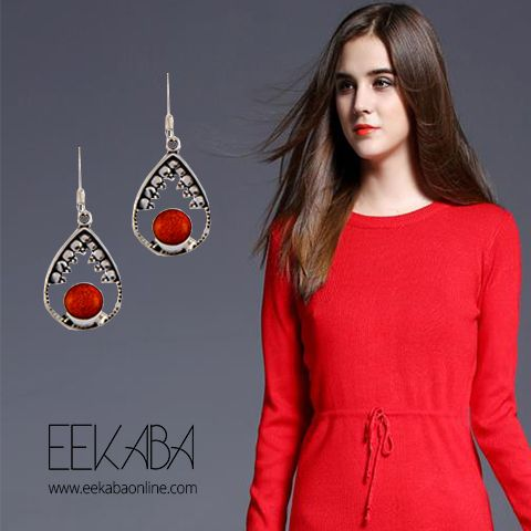 Truly said there is a shade of red for every woman. Whether you are a party person or a not so social bee, this earring is a must have in your collection. You can pair it up with your long cocktail dresses as well as classic ethnic saris. Be different. Look different. Leave a long lasting impression lady. :)