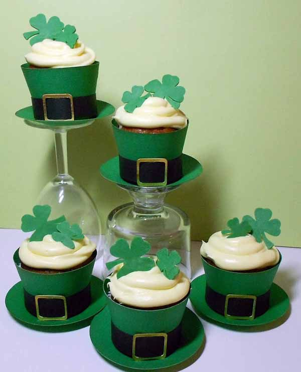 Cricut St Patrick's Cupcake Wrapper-Tea Cup. Tags Bags Boxes and More 2 Cartridge.   *