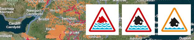 view the flood map