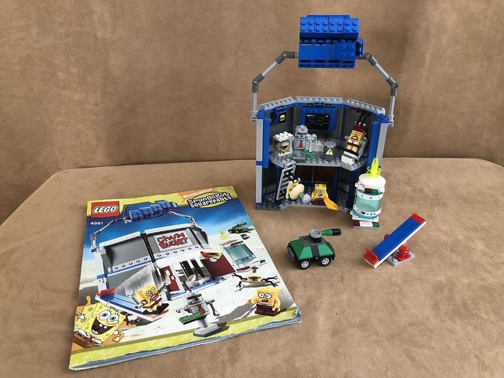 4981 Lego complete The Chum Bucket Spongebob Squarepants instruction book house #Lego