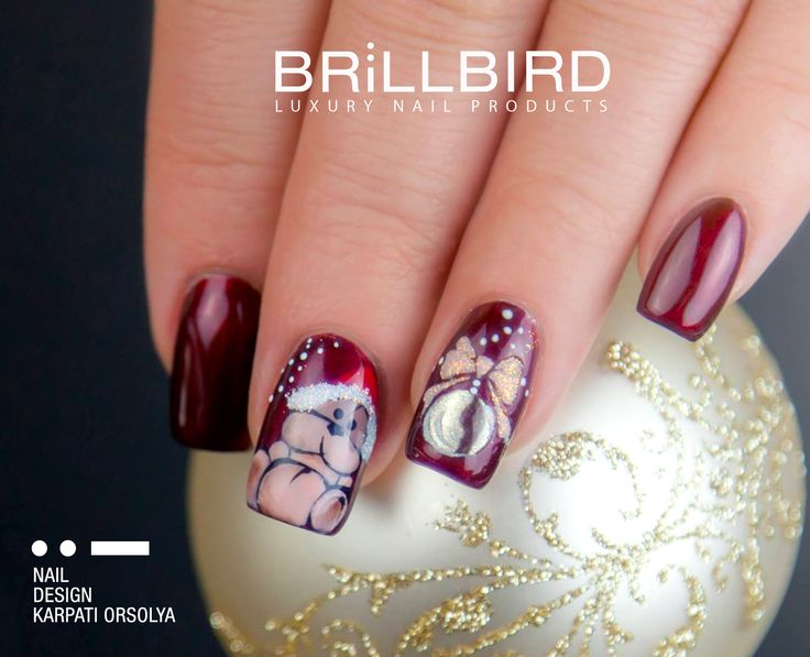 Manichiură pentru crăciun. www.brillbird.ro