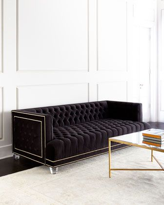 Grace Tufted Sofa by Haute House at Neiman Marcus.