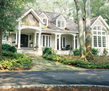 Gabled Dormer Windows and french door entryway. Beautiful.