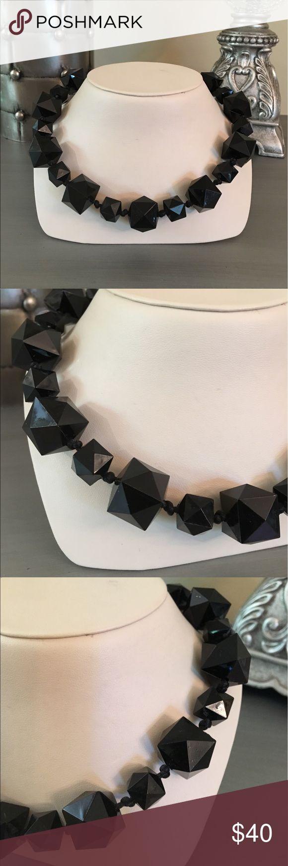 🛍 Robert Rose Black Beaded Necklace Adjustable length Robert Rose Jewelry Necklaces