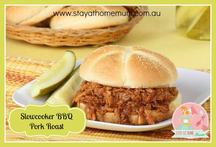 Slowcooker BBQ Pork Roast | Stay at Home Mum