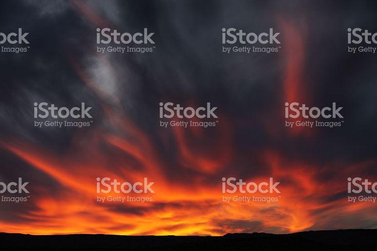 Sunset Arcus Nimbocumulus Stratocumulus Cloud Sky royalty-free stock photo