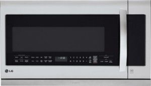 LG - 2.2 Cu. Ft. Over-the-Range Microwave - Stainless Steel - Front Zoom