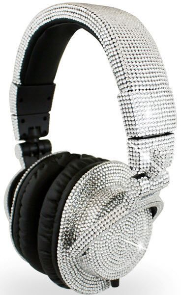 Blinged out headphones | More bling here: http://mylusciouslife.com/photo-galleries/bling-fling/