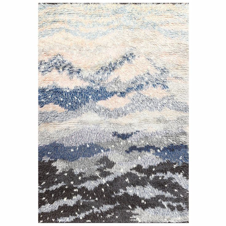 Vintage Swedish Rya Rug by Rut Beskow | From a unique collection of antique and modern russian and scandinavian rugs at https://www.1stdibs.com/furniture/rugs-carpets/russian-scandinavian-rugs/
