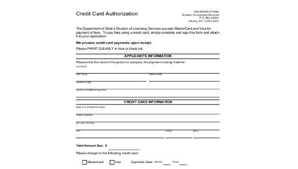 Free 10 Sample Credit Card Authorization Forms In Ms Word Pdf Excel Card Template Credit Card Credit Card Images