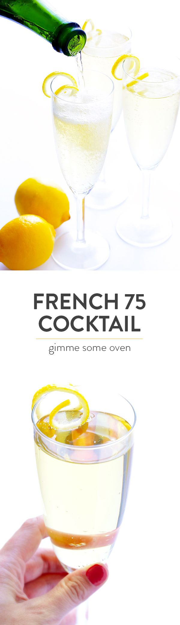 French 75 Cocktail on Pinterest | French 75, Cocktails and Cocktail ...