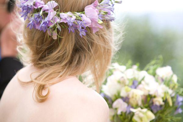 Flower headdress. Sophie & Adam