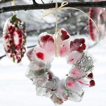 Be Creative: Jég koszorú, gyertyatartó- Ice wreaths, lanterns