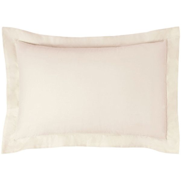 Olivier Desforges Alcove Pillowcase - Ivory ($19) ❤ liked on Polyvore featuring home, bed & bath, bedding, bed sheets, cream pillow cases, cream colored bedding, cream bedding, ivory pillowcases and ivory bedding