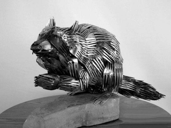 Wow, deze sculpturen van dieren zijn gemaakt van bestek - Roomed | roomed.nl